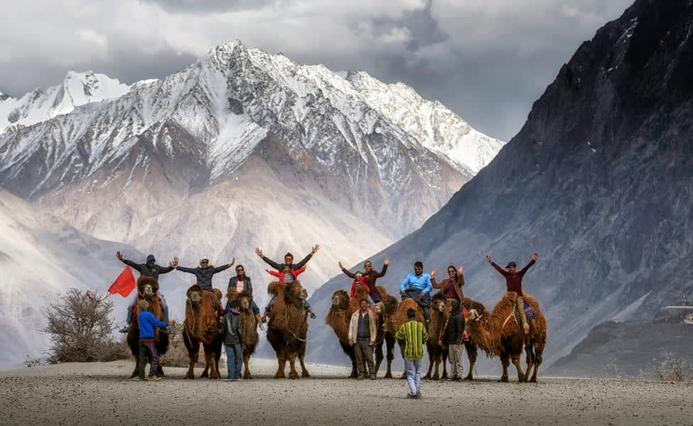 Day 3 Leh to Nubra Valley via Khardung-La Pass   A Drive to the World's Highest Motorable Road (18000 ft.)